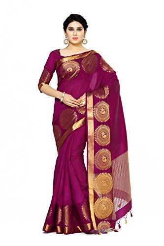 Mimosa By Kupinda Women's Tussar Silk Saree Banarasi Style (Latest Designer Sarees...