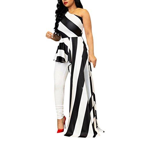 Robe Longue Femme Chic Automne de Soiree Col Inclinaison de l'épaule dissymétrie Pendule Loisirs Originale Cintrée Vetement de Fete (XL, Vert)