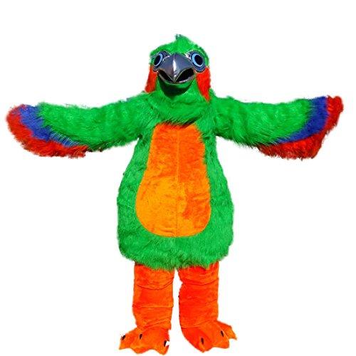 Langteng Farbe Parrot Lang Hairy Cartoon Maskottchen Kostüm Echt Bild 15-20Tage Marke (Kostüm Parrot)