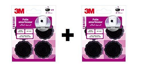 3m-lot-de-8-patins-caoutchouc-amortisseur-noir-40mm-spcial-electromnager