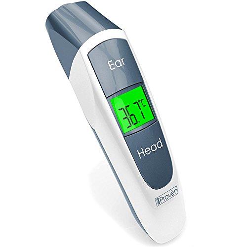 Digitales Ohr-Thermometer mit Stirn Funktion–Algorithmus für bessere Genauigkeit–CE und FDA genehmigt–NEUE Design Medical Thermometer iproven dmt-316–sehr bequem für alle Altersgruppen