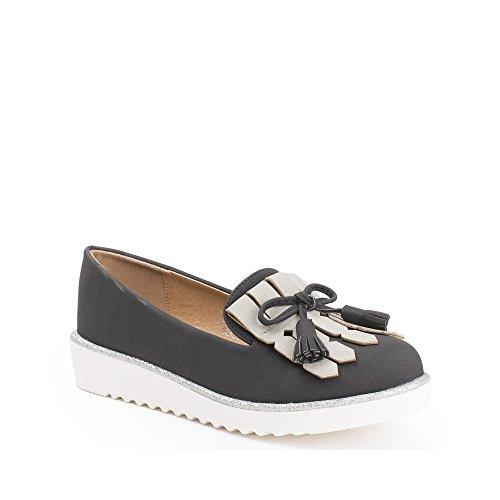 Bicolor Flecos Los Onaya Ideales Negros Zapatos Mocasines 6w0qwET