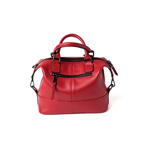Borse Da Donna2018 Nuove Borse In Pelle Europa E Stati Uniti Borse Moda In Pelle Da Donna Borsa A Tracolla Messenger Bag (rosso Blu Rosa Nero) Black