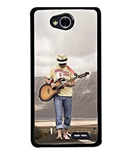 Fuson Designer Back Case Cover for LG L70 :: LG L70 Dual (Music Playing Guitar Sea Beach )