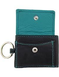 Sportlich handliche Geldbörse mit Schlüsselanhänger Etui Sportgeldbeutel in schwarz-blue