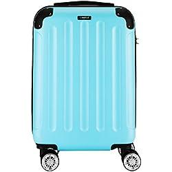 Sunydeal Maleta Rígida Equipaje Mediano, 65cm , 56 Litros, Azul Claro, Candado TSA , 4 Ruedas multidireccional