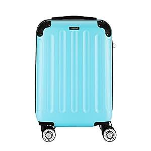 """Sunydeal Reisekoffer Koffer Trolley Hartschalenkoffer mit TSA Zahlenschloss 28"""" 75cm 85 Liter 4 Zwillingrollen extrem leicht Türkis Größe l"""