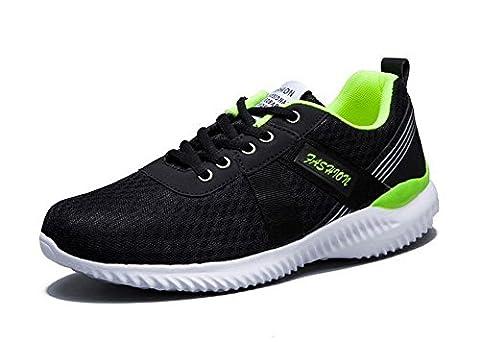 Hommes Décontractée Chaussures De Course 2017 Automne Nouvelle Mode Coussin Léger Chaussures De Sport Respirant ( Color : Black , Size : 44 )
