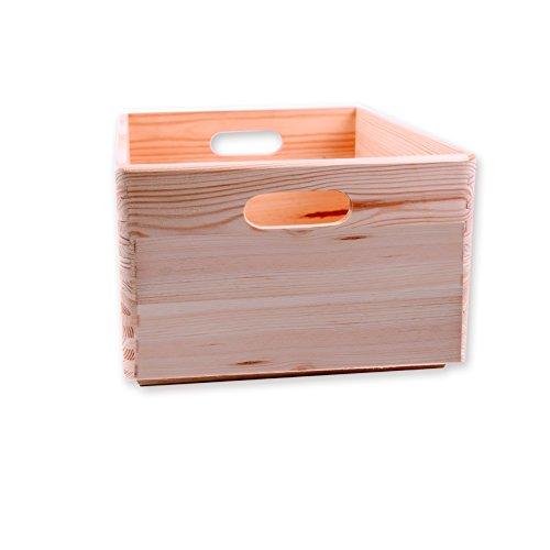 Holzkiste Allzweckkiste stapelbar 30x20x14 cm - Stapelbox Größe 2 kombinierbar