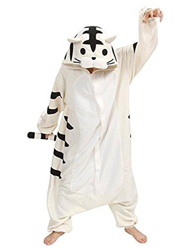 Hstyle Unisex-Erwachsene Onesies Kigurumi Pyjamas Tier Kostüme Cosplay Cartoon Nachtwäsche - Tiger Halloween-kostüm Strampelanzug