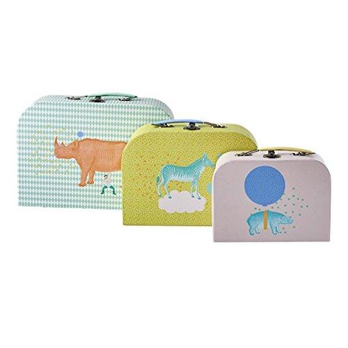 Preisvergleich Produktbild Cardboard Suitcase 3er Set in verschiedenen Animal Prints