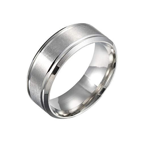 GMZWW Marke 8mm Einfache Ring Mode Gold Ring Männer Frauen Exklusive Paar Ehering Frauen Schmuck Geschenk 10 Silber