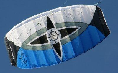 Cometa de Sigma Spirit 3.0 negro-blanco-azul, RTF, vuelo y listo, para foil, 2-liner, Potencia Kite