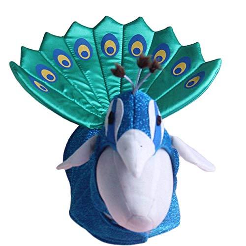 Für Hunde Kostüm Pfau - dfgjdryt Delicated Halloween Pfau Hund Katze Kostüm Outfits mit Katze Hut Lustig Klein Haustier Hund Katze Party Kleid Kleidung - Blau