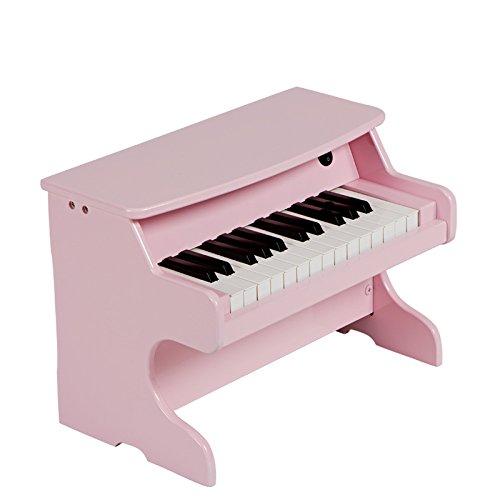 Kyokim pianoforte per bambini 4 5 chilogrammi in legno tastiera piccola per principianti 3-8 anni giocattoli per bambini,pink
