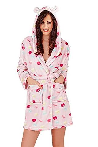 Femmes Loungeable Macaron Combinaison Ou Robes De Chambre De Luxe Pour Femmes Pyjama - Lilas - Robe Courte, Taille S - EU 36-38