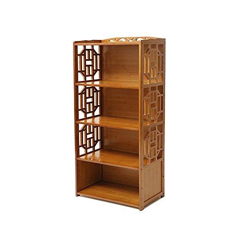 Bibliothèque Sexy en Bambou Multifonctions à 3 Niveaux Antique Petite Libre de Stockage Bookshelf Brown (Taille : 42 * 29 * 130cm)