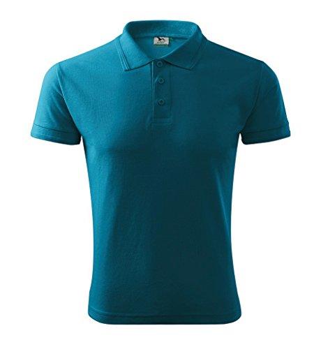 Dress-O-Mat Herren Poloshirt Shirt Polohemd Dunkel Türkis