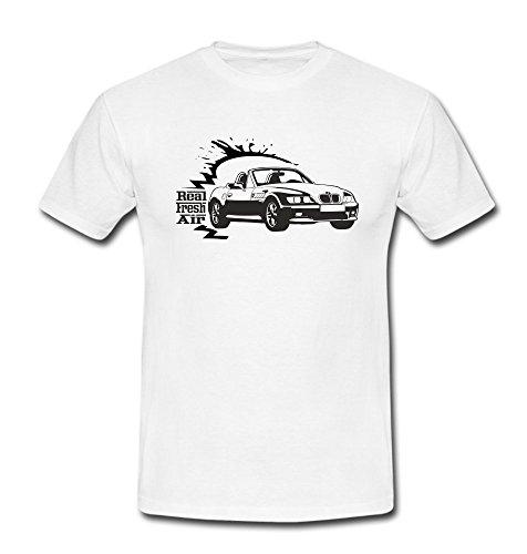 T-Shirt Z3 Roadster Automotiv Youngtimer Auto PKW weiß/schwarz S-XXL Weiß