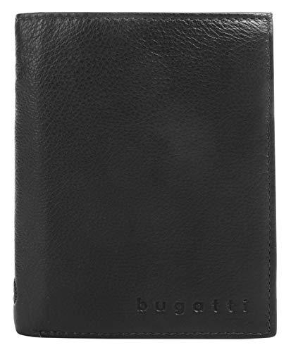 Bugatti Geldbörse Sempre, 12cm, schwarz
