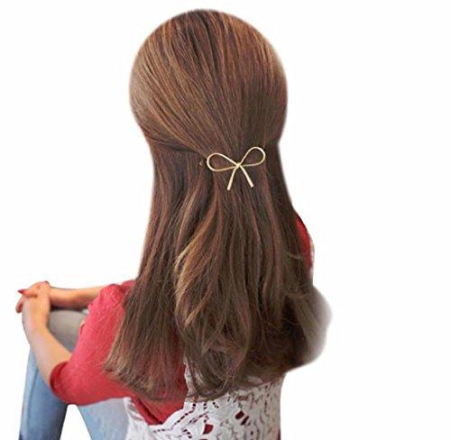 Covermason Damen Haarklammern Haarnadel Haarschmuck Geometrisch durchbrochene Schmetterling (Gold )