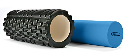 Premium 2-In-1 Foam Roller By Natural Chemistree. Hollow Grid Foam Roller For Deep Tissue Massage. Solid Soft Foam Roller For Muscle Relaxation. Great For Physical Therapy - Bonus Carry Case Included
