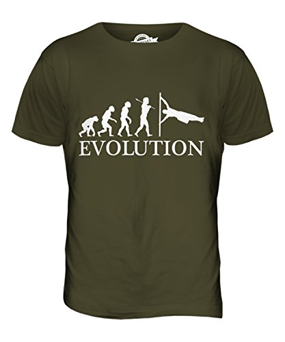 CandyMix Menschliche Flagge Evolution Des Menschen Herren T Shirt Khaki Grün