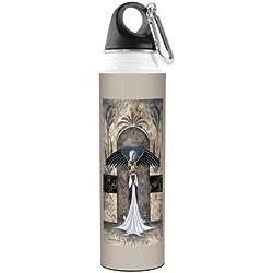 vb47592Amy marrón Fantasía Artful Traveler inoxidable botella de agua, 500ml, encargado de los gatos hada