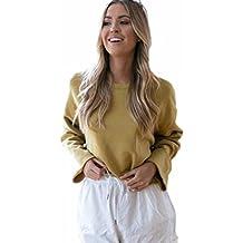 Mujer Blusa Cortas , VENMO 2017 Otoño Nuevo Moda Mujer Suelta Casual Manga Larga Blusa Suéter Jersey Tops Capa