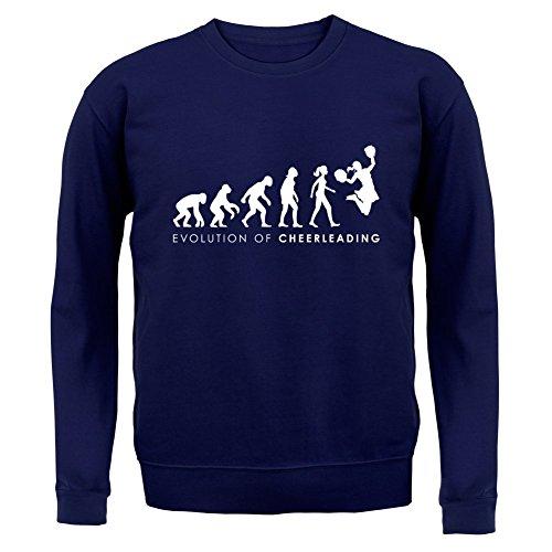 Blau Kostüm Cheerdance (Evolution of Woman - Cheerleading - Kinder Pullover/Sweatshirt - Navy - L (7-8)