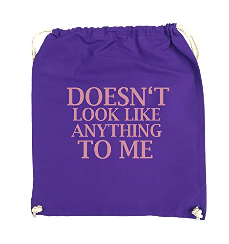 Comedy Bags - DOESN'T LOOK LIKE ANYTHING TO ME - Turnbeutel - 37x46cm - Farbe: Schwarz / Pink Lila / Rosa