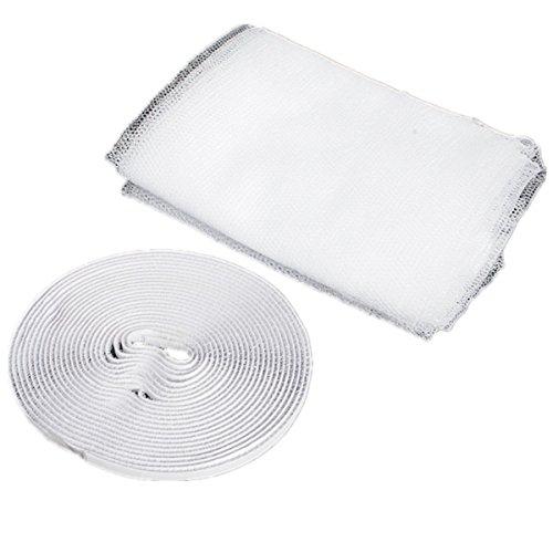 Nicebuty - zanzariera per finestra, rete in tessuto antizanzare con con rotolo di nastro adesivo per bloccare gli insetti, colore: bianco