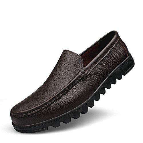 Pantofole Comode Pattinate Scarpe Da Barca Scarpe Da Derby Scarpe Da Padre Brown
