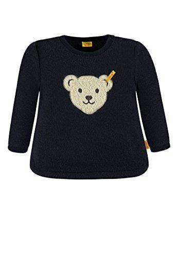 Steiff Baby-Mädchen Sweatshirt 1/1 Arm Fleece, Blau (Marine|Blue 3032), 86