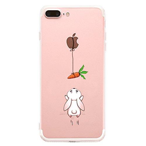 iPhone 7 Plus /8Plus hülle, Yimier® transparentes TPU Case Silikon der Tiere Backcover Schutz Tasche Schale Hardcase kreatives Design Panda Muster bedecken zurück für Apple für iPhone 7 Plus/8P