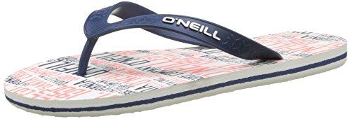 O'Neill Herren Fm Profile Pattern Flip Flops Zehentrenner Weiß (WHITE Allover Print)