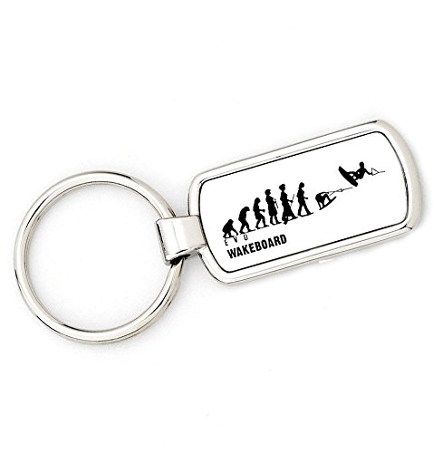 Damen Evolution Schlüsselanhänger Ape zu Wakeboard–Damen Schlüssel Ring Geschenk