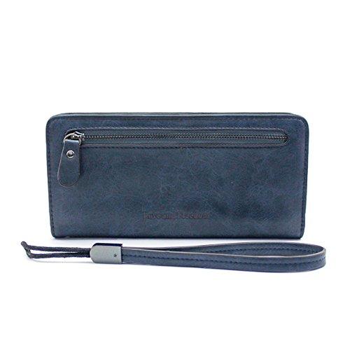 Gr8Life damen Geldbörsen Lange Portemonnaie Blau