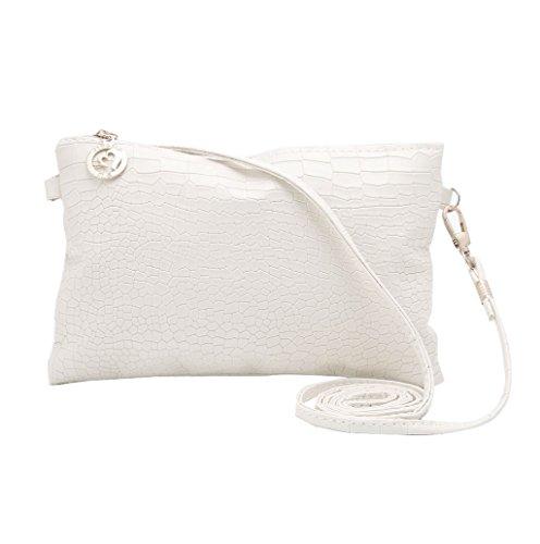 Dairyshop Sacchetto di Crossbody del messaggero del Tote della spalla borsa signora Satchel delle nuove donne di modo (bianco) bianco