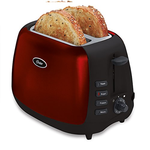 Red/Black : Oster 6595 Inspire 2-Slice Toaster, Red/Black
