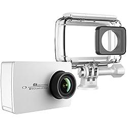 YI 4K Cámara de Acción/Deportiva/cámara de Video 4k WiFi Ultra HD con Carcasa Impermeable de Lente de Amplio ángulo con una Pantalla táctil de 2.19pies (EU Versión) (Blanco)