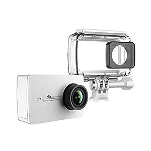YI 4K Action Kamera Schwarz 4K/30fps 12MP Action Cam mit 5,56 cm (2.2 Zoll) LCD Touchscreen, WiFi und App für IOS/Andriod, Sprachbefehl