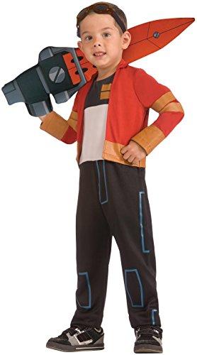 Rex - Ben 10 Omniverse - Kinder-Kostüm - Small - 117cm (Ben 10 Kostüm)