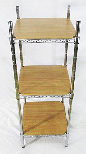 Scaffale in metallo cromato - H. 120cm