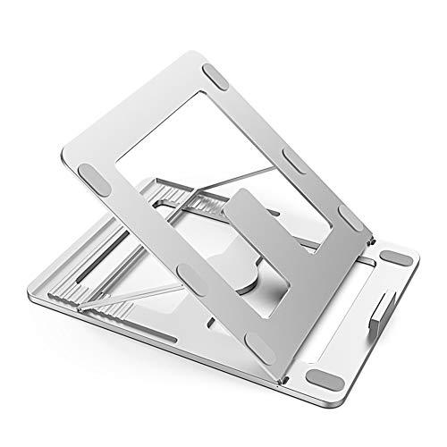 THOR-BEI Laptopständer - Multi-Speed-Einstellung, Faltbare, tragbare Belüftungsleuchte, platzsparend, doppelte Wärmeableitung -notebookkühler (Farbe : Silber)