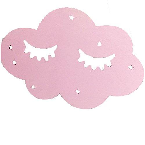 Little Finger Modische Ornaments Lovely Sleeping Face Cloud Holz Hintergrund Wand Aufkleber Kinder Zimmer Home Decor-Holz Farbe Einheitsgröße rose