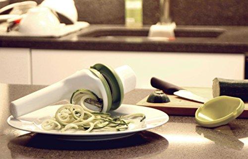 #1 Spiralizer DiBocati. Cortador multiusos de verduras en espiral 3 en 1 para cocinar tallarines de pepino  calabacín y zanahoria. 2 AÑOS Garantía de recambio.