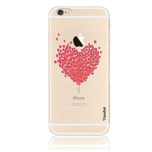 Vandot Etui Coque Housse Case pour iPhone 6 6S 4,7 Pouces Bling Transparent TPU Bumper Fashion Créatif Souple Matte Cover - Avaler Picture-32