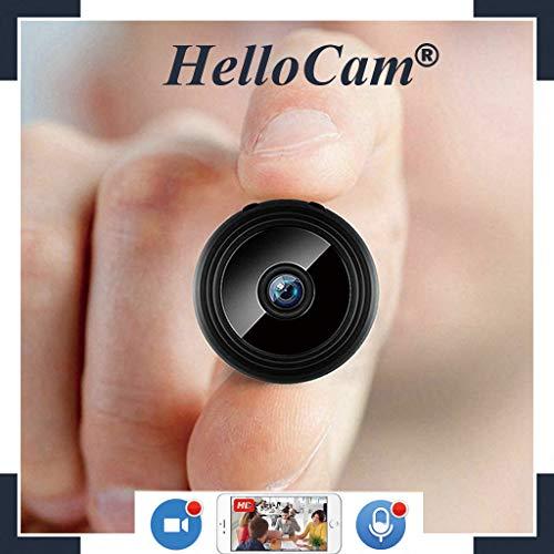 Microcamera Spia nascosta wifi mini - Telecamera nascosta Videocamera Spy Cam HD ultra miniaturizzata-professionale con obiettivo - Videocamera di sorveglianza Interno IP