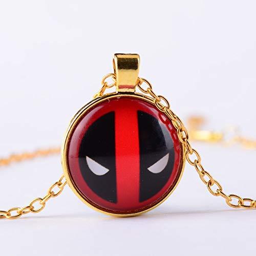 Deadpool Masken Design Handgemachte Glas Cabochon Halskette Superheld Balaclava Fans Souvenir Anhänger Halskette Cartoon Schmuck